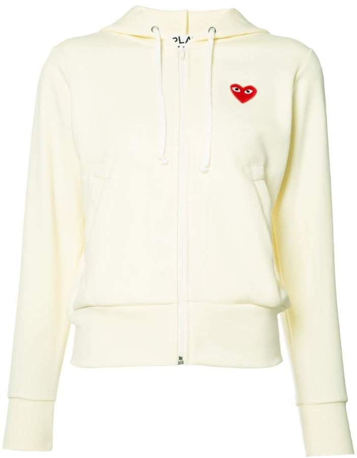 Comme des Garcons heart logo hoodie