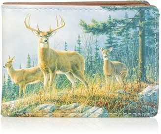 Buxton Men's Wildlife Autumn Whitetail Deer Front Pocket Slimfold Accessory