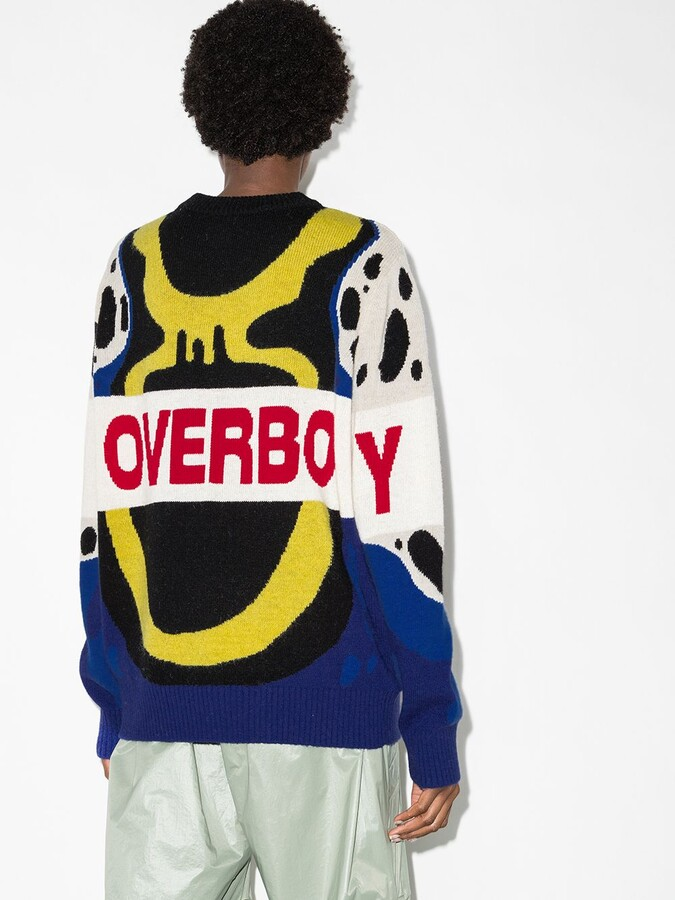 Thumbnail for your product : Charles Jeffrey Loverboy Jacquard-Logo Crew Neck Jumper