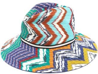 Missoni Zigzag Cotton-blend Straw Hat - Multi