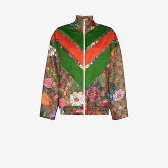 Gucci GG supreme Flora print track jacket
