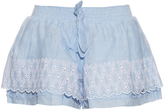 Emamo Frill broderie-anglaise linen shorts