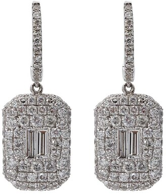 Shay Pave Baguette Diamond Drop Earrings