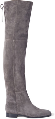 Sergio Rossi Lace-up Suede Over-the-knee Boots