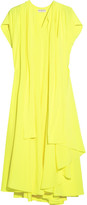 Balenciaga Neon Pleated Silk Crepe De Chine Dress - Bright yellow