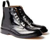Tricker's 'Stow' Black Bookbinder Lace Up Brogue Boot