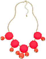Blu Bijoux Gold And Coral Single Bubble Necklace