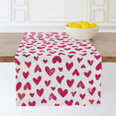 Minted Hand Stamped Hearts Table runners