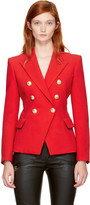 Balmain Red Classic Six-button Blazer