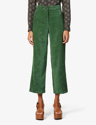 Sessun Cybill straight-leg high-rise corduroy trousers