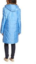 Sky Blue Faux Fur Long Coat - Women & Plus