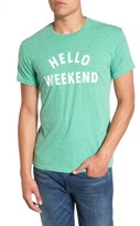 Original Retro Brand Men's Hello Weekend Graphic T-Shirt
