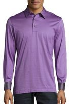 Brioni Long-Sleeve Polo Shirt
