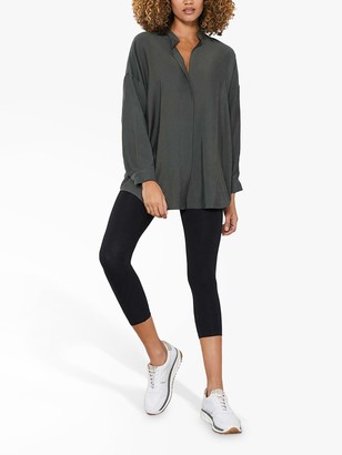 Mint Velvet Longline Open Collar Shirt