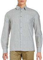 Kenneth Cole New York Heathered Cotton Shirt