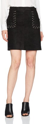 BB Dakota Women's Cain Studded Faux Suede Skirt