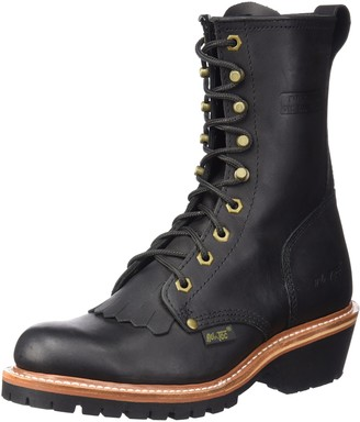 "AdTec Ad Tec Men's 1964 10"" Fireman Logger Black Work Boot (Black Numeric_8_Point_5)"