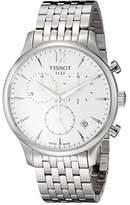Tissot Men's T0636171103700 Tradition Analog Display Swiss Quartz Silver Watch