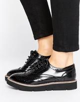 London Rebel Brogue Flat Eva Shoe