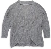 Aqua Girls' Ribbed Contour Front Cardigan , Sizes S-XL - 100% Exclusive