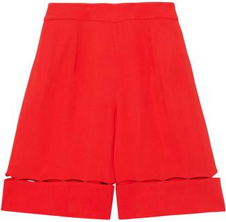Emilio Pucci Cutout Two-tone Crepe Shorts