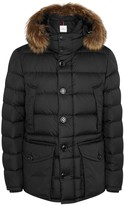Moncler Cluny Fur-trimmed Quilted Shell Jacket