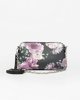 Le Château Floral Print Leather-Like Crossbody Bag