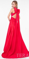Terani Couture Dropped Waist A-line Bow Back Evening Dress