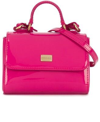 Dolce & Gabbana Patent Leather Logo Shoulder Bag