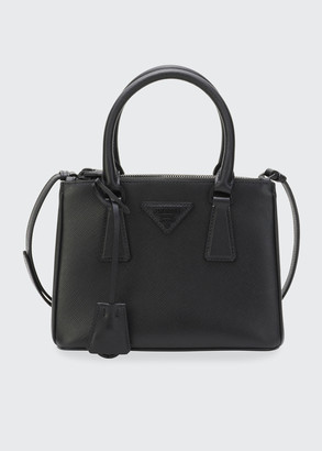 Prada Galleria Mini Saffiano Dual-Zip Satchel Tote Bag
