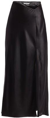 Alexander Wang Wet Shine Midi Skirt