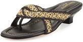 Eric Javits Newtwist Knotted Slide Sandal, Sulfate/Black