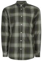 Selected Green Button Up Shirt
