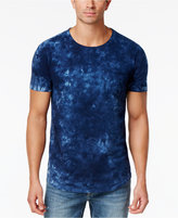 Sean John Men's Tie-Dyed Washed Indigo Cotton T-Shirt