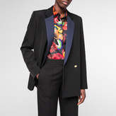 Paul Smith Women's Black Wool Double-Breasted Tuxedo Blazer