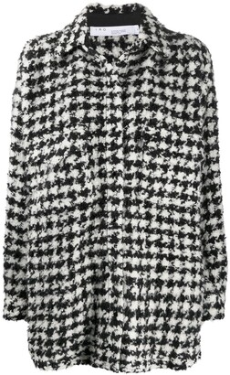 IRO Houndstooth-Print Boucle Jacket