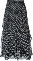 Peter Pilotto floral print tiered skirt