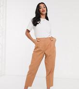 Asos DESIGN Petite linen dad trousers
