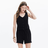Madewell Button-Front Jacquard Romper