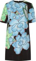 Marni Floral-print cotton and linen-blend mini dress
