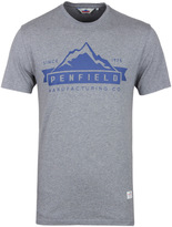 Penfield Grey Marl Mountain Logo T-shirt