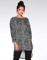 Quiz Light Knit Zebra Print Jumper