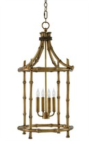 The Well Appointed House Antique Brass Bamboo Ceiling Lantern