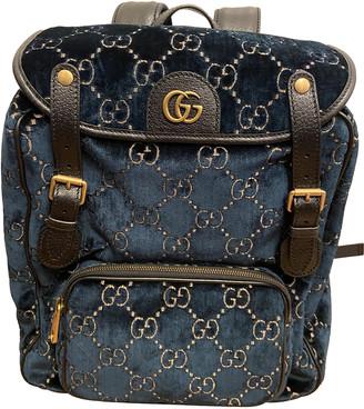 Gucci Blue Velvet Bags