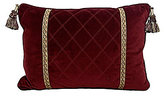 Veratex Belle Fleur Tasseled Quilted Velvet Boudoir Pillow