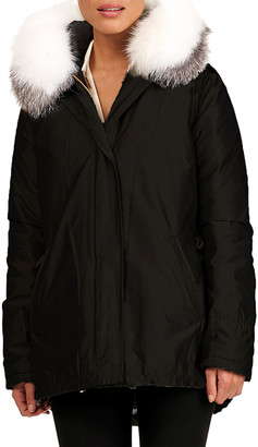 Gorski Parka W/ Detachable Down Vest & Fox Fur Hood Trim