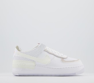 Nike Force 1 Shadow Trainers White Sail Stone Atomic Pink