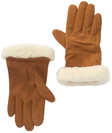 ba21d160dee Classic Suede Tech Sporty Genuine Shearling Cuff Gloves