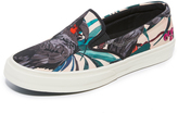 Paul Smith Clyde Cockatoo Print Slip On Sneakers
