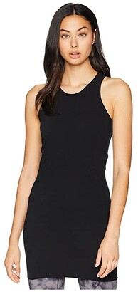 Hard Tail Long Racer Tank Top (Black) Women's Sleeveless